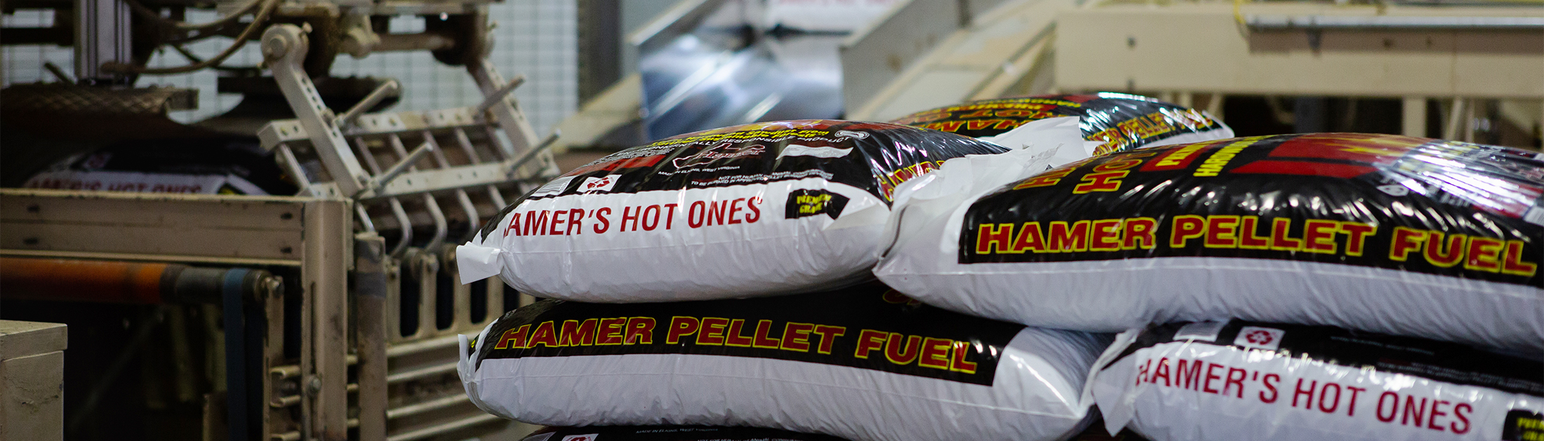 Stacked bags of Hamer's Hot Ones