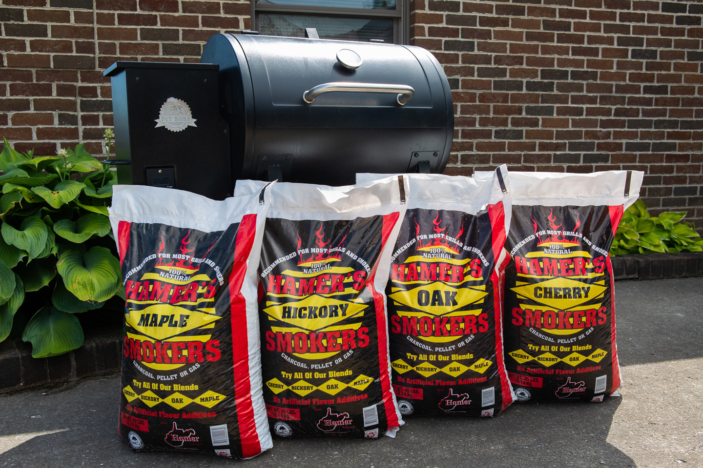 Bags of Hamer's Oak Smokers
