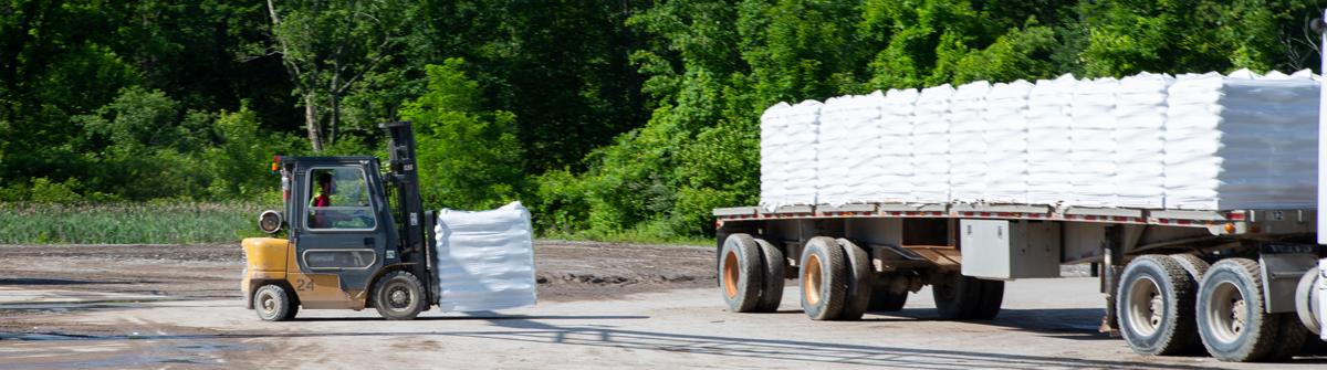 forklift loading Hamer products